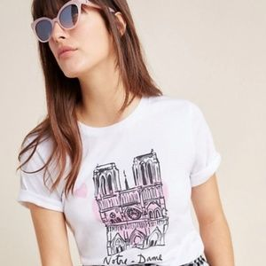 Anthropologie Graphic Tee Notre Dame
